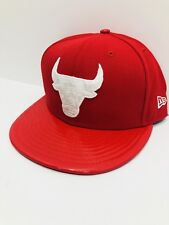 MEN'S CHICAGO BULLS New Era 59FIFTY FITTED NBA HAT Scarlet color Size 7 1/2
