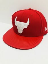 MEN'S CHICAGO BULLS New Era 59FIFTY FITTED NBA HAT Scarlet Red color Size 7 5/8