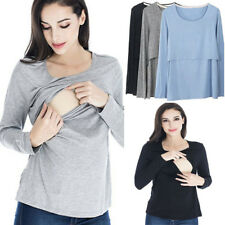 Maternity Clothes Breastfeeding Tops Nursing Long Sleeve Womens T-shirt Casual