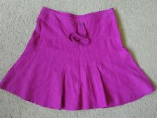 EUC Athleta Daydream Linen Drawstring Side Zip Magenta Skirt Size 6