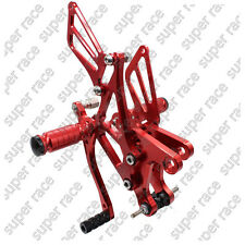 CNC Rearset Footpeg Footrest Pegs For KAWASAKI ZX6R 636 2005-2006-2007-2008 Red