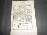 1683 CARTA GEOGRAFICA MALLET PARTE SETTENTRIONALE DELL'ITALIA ANTICA