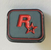 Rockstar Game Maker Gaming Console Gamer Advertising Pin Badge Vintage (C10)