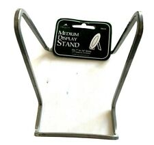 """4.5"""" Plate Stand Silver Square Wire Display Easel Tripar 50214 Quality +freebies"""