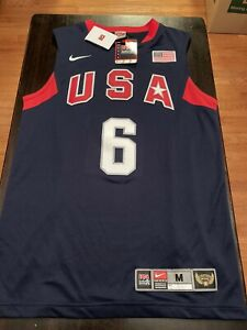 USA Basketball Lebron James Nike Jersey Beijing Olympics 2008 Size Medium M NWT