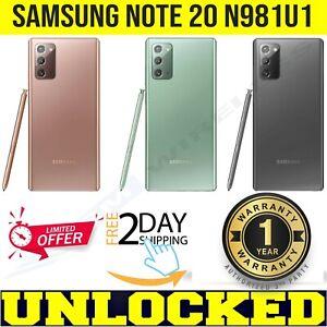 SAMSUNG GALAXY NOTE 20 5G UNLOCKED (N981U1, US MODEL) 128GB│512GB⚫️🟢🟠❖SEALED❖w
