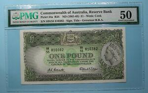 1961 AISTRALIA POUND P34a PMG50 INV#PM114-20