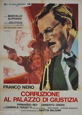 manifesto 2F originale CORRUZIONE AL PALAZZO DI GIUSTIZIA Franco Nero 2a ediz.