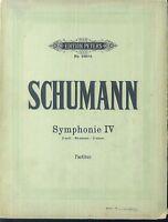 Schumann - Symphonie IV - Partitur