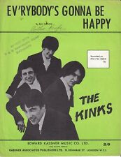 Ev'rybody's Gonna Be Happy - The Kinks - 1965 Sheet Music