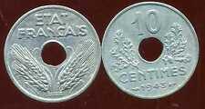 10 centimes 1943 grand  module  SUP  ( bis )