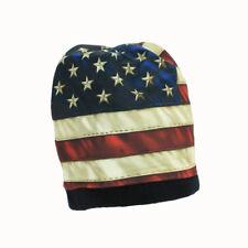 Biker Chopper Motorrad USA Flagge Amerika Flag Beanie Wintermütze Ski Mütze NEU