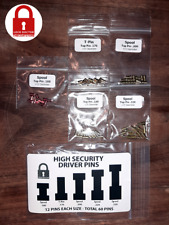 High Security Lock Pins - Spool and T-Pin - Upgrade Your Locks - 60 Pins