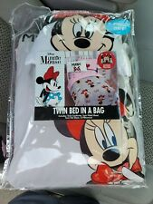 Minnie Mouse 5 pc Twin Bed in a Bag Comforter, Sheet Set & Pillow Disney Bedding