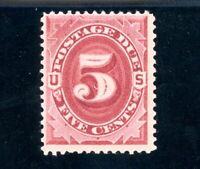 USAstamps Unused VF US 1891 Postage Due Bright Claret Scott J25 OG MHR