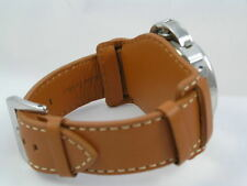 SUPERB LEATHER BUND WATCH STRAP FOR SEIKO CITIZEN ORIS LUMINOX CWC WATCH 22MM
