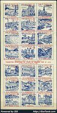 FRANCE BLOC DES VIGNETTES DU TOUR DE FRANCE 1949 NEUF ** SANS CHARNIERE A VOIR
