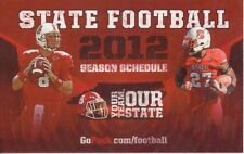 2012 NC State Football Schedule NCSU North Carolina Mike Glennon Earl Wolff