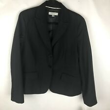 Anne Klein Sz 16 Wool Black Stripped Two Button Blazer