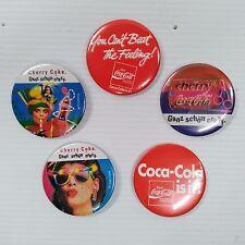 Coca-Cola German Pin-Back Buttons (Set of 5) - UNIQUE ITEM