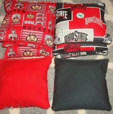 Set Of 8 Ohio State Buckeyes Cornhole Bags - Quality New Design