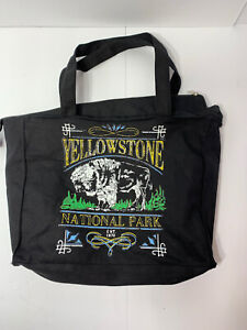 Yellowstone National Park Bag Tote Purse Grocery Bag Black!