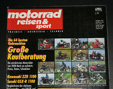 MOTORRAD REISEN & Sport  IV 4 1993 Kawasaki ZZR 1100 Suzuki GSX R 1100 Bimota