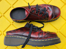 Dr Martens Doc 9936 Uk7 Women's 9 Lace Clogs Mules Slides Vintage Red
