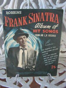 Sinatra Robbins Album of Hit Songs Sheet Music Book, London