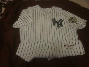 2009 New York Yankees Home Pinstripe Jersey Inaugural Season Yankee Stadium