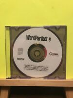 Pre-owned ~ Word Perfect 9 Corel Software Disc PC CD-Rom, 2001, 980214