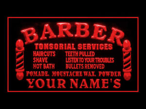 270037 Barber Shop Personalized Your Text Display Neon Sign