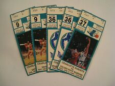 Charlotte Hornets Basketball LOT of 5 Vintage Ticket Stubs 1989-1990