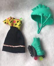 Monster High Roller Maze Lagoona Blue Doll Dress Roller Skate Helmet