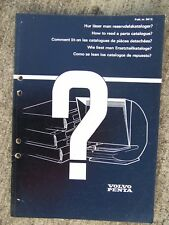 "1979 Volvo Penta ""How to Read a Parts Catalog"" Manual Printed Microfiche  U"