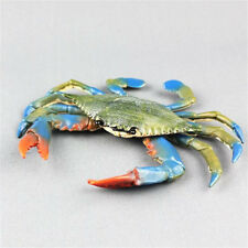 17cm PVD Blue Crab Realistic Sea Animal Model Solid Figure Ocean Kids Toy Hot