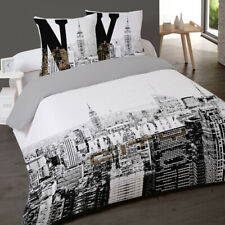 Housse de couette NEW YORK BUILDINGS new   200 x 200 +2 Taies Coton 100%