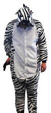 Flannel Kostüm Zebra Damen Herren Kinder Karnevalskostüm Faschingskostüm XL