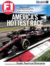 2015 FORMULA 1 UNITED STATES GRAND PRIX Magazine October 23 - 25, Austin, Texas