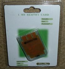 Playstation 1 PS1 Psone 1MB Tarjeta de memoria de bloque de 15! totalmente Nuevo! 1 MB tarjeta MEM claro