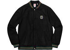 Supreme Lacoste Wool Varsity Jacket Black Large ((IN HAND SAME DAY SHIP))
