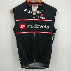 Capo Bicycling Vest Adult S Black Red Mill Valley Studio Velo California Marin
