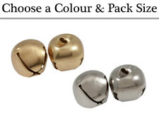 30mm Gold or Silver Jingle Bells for Crafts