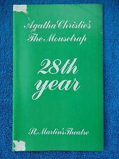 The Mousetrap - St. Martin's Theatre Playbill w/(8) Autographs - June 1980