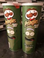 TWO PACK of NEW SPECIAL EDITION PICKLE RICK PRINGLES RICK AND MORTY 5.5 OZ