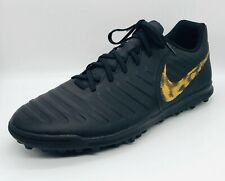 [New]Nike Tiempo Legend 7 Club Tf Black Gold Soccer Shoes size 11.5(Ah7248 077)