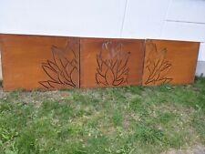 3St. Edelrost Garten Sichtschutzwand aus Metall 1mm Rost Gartenzaun L300H75cm