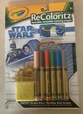 Star Wars Crayola ReColoritz Reusable Erasable Coloring Pages w/Washable Markers