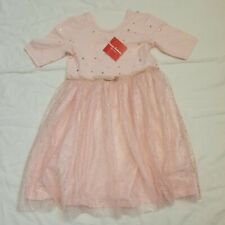 NWT Hanna Andersson PINK TULLE Star DRESS SHORT SLEEVES 130 8