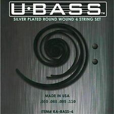 Kala KA-BASS-4 Silver Plated Metal Round Wound U-Bass Strings 4 Strings - New